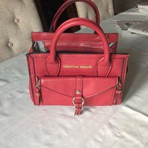 Red purse in good shape no shoulder strap